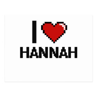 Amo el diseño retro de Hannah Digital Tarjetas Postales