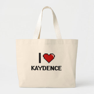 Amo el diseño retro de Kaydence Digital Bolsa Tela Grande