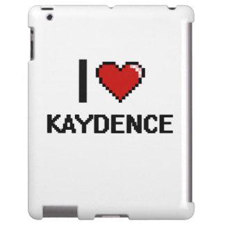 Amo el diseño retro de Kaydence Digital Funda Para iPad
