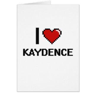 Amo el diseño retro de Kaydence Digital Tarjeta De Felicitación