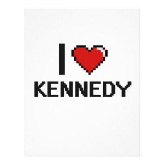 Amo el diseño retro de Kennedy Digital Folleto 21,6 X 28 Cm