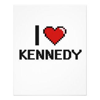 Amo el diseño retro de Kennedy Digital Folleto 11,4 X 14,2 Cm