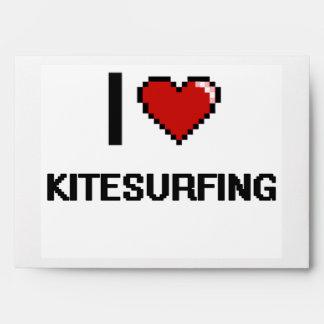 Amo el diseño retro de Kitesurfing Digital