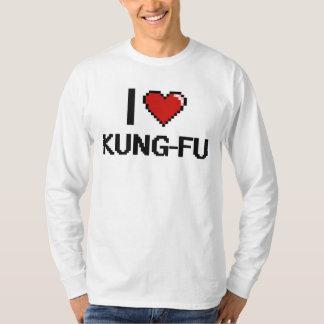 Amo el diseño retro de Kung-Fu Digital Playera