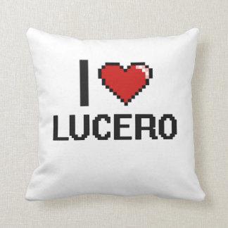 Amo el diseño retro de Lucero Digital Almohadas