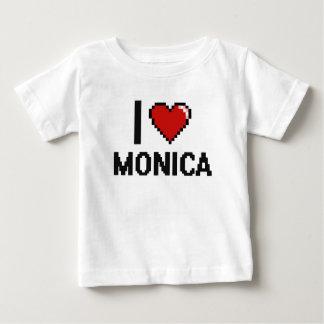 Amo el diseño retro de Mónica Digital Camiseta