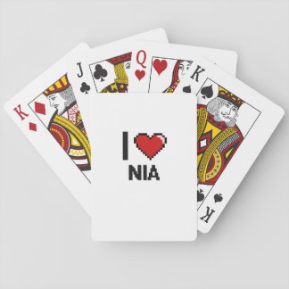 Amo el diseño retro de Nia Digital Barajas De Cartas