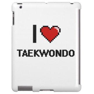 Amo el diseño retro del Taekwondo Digital Funda Para iPad