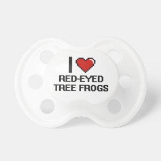 Amo el diseño Rojo-Observado de Digitaces de las Chupete De Bebé