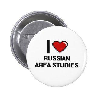 Amo el diseño ruso de Digitaces de los estudios Pin Redondo 5 Cm
