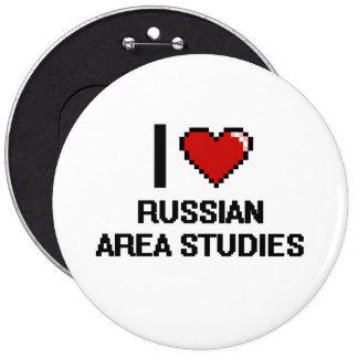 Amo el diseño ruso de Digitaces de los estudios Pin Redondo 15 Cm