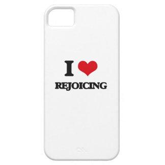 Amo el disfrutar iPhone 5 protectores