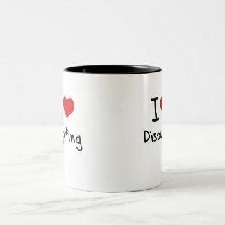 Amo el disputar taza dos tonos
