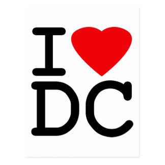 Amo el distrito de Columbia de la C.C. de Washingt Postales