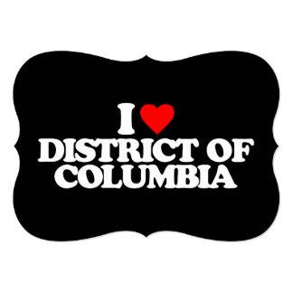 """AMO EL DISTRITO DE COLUMBIA INVITACIÓN 5"""" X 7"""""""