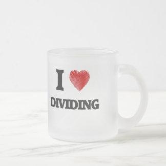 Amo el dividir taza de cristal