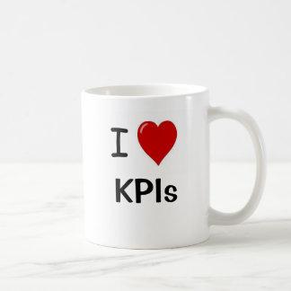 Amo el doble de KPIs del corazón de KPIs I eché a Taza Básica Blanca