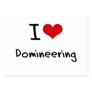 Amo el Domineering Plantillas De Tarjetas De Visita