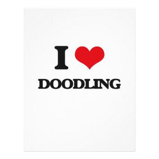 Amo el Doodling Flyer A Todo Color