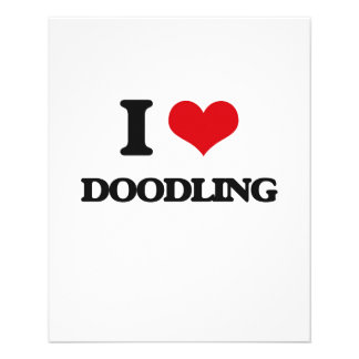 Amo el Doodling Tarjetón