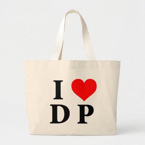 Amo el DP Bolsa Lienzo