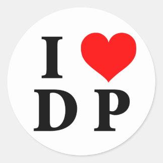Amo el DP Pegatina Redonda