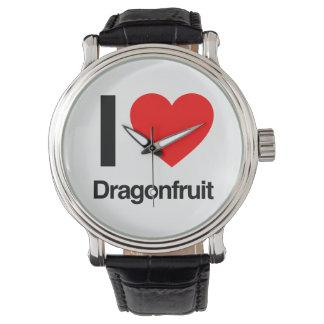 amo el dragonfruit relojes de pulsera