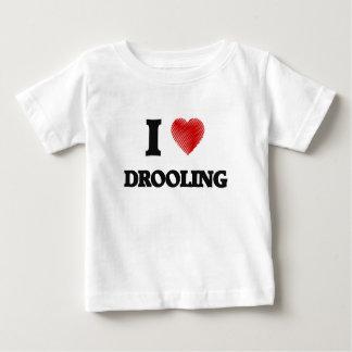 Amo el Drooling Playera De Bebé