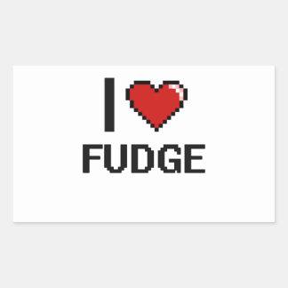 Amo el dulce de azúcar pegatina rectangular
