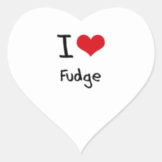 Amo el dulce de azúcar pegatina en forma de corazón