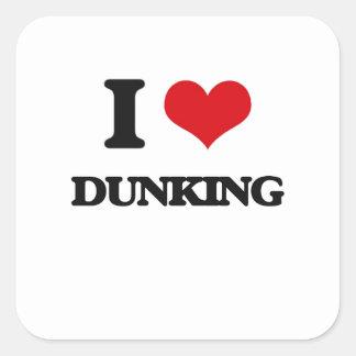 Amo el Dunking Pegatina Cuadrada