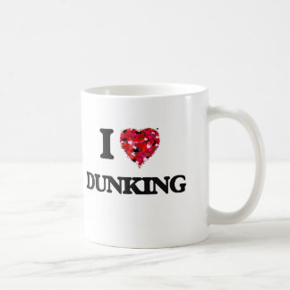 Amo el Dunking Taza Básica Blanca