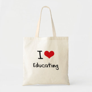 Amo el educar bolsa tela barata