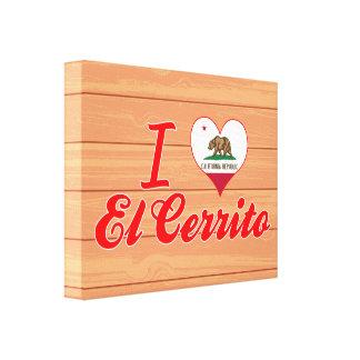 Amo el EL Cerrito, California Lona Estirada Galerías