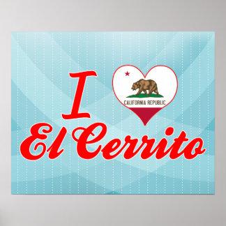 Amo el EL Cerrito, California Impresiones