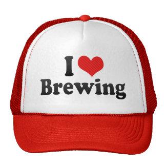 Amo el elaborar cerveza gorras