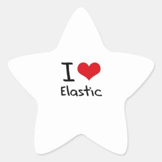 Amo el elástico pegatina en forma de estrella