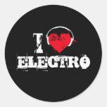 Amo el electro etiqueta redonda
