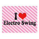 Amo el electro oscilación tarjetas postales