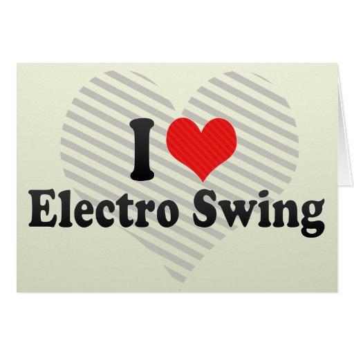 Amo el electro oscilación tarjetón