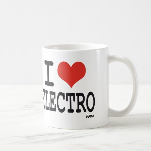 Amo el electro taza clásica