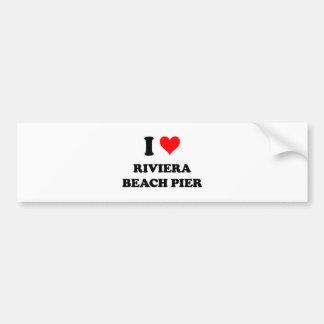 Amo el embarcadero Tejas de la playa de Riviera Pegatina Para Auto