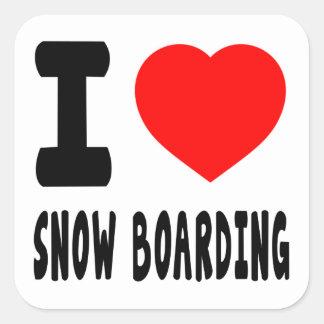 Amo el embarque de la nieve pegatina