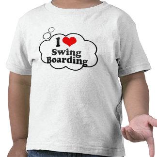 Amo el embarque del oscilación camisetas