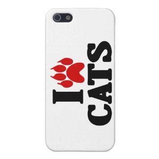 Amo el emblema de los gatos iPhone 5 carcasa