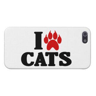 Amo el emblema de los gatos iPhone 5 fundas