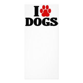 Amo el emblema de los perros lona personalizada