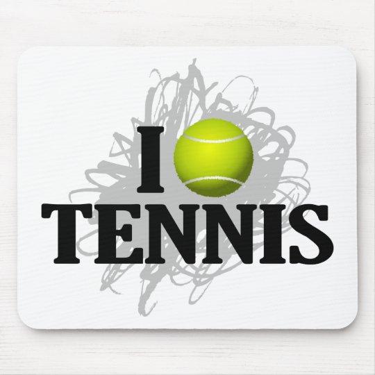Amo el emblema del tenis tapetes de raton