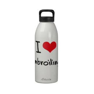 Amo el embrollar botella de agua reutilizable