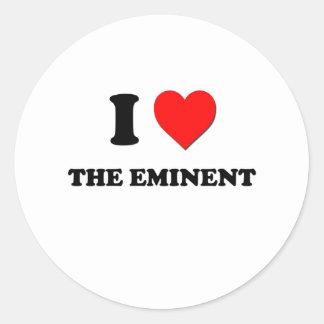 Amo el eminente pegatina redonda